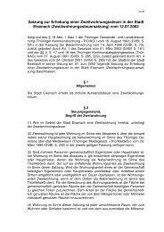 Satzung zur Erhebung einer Zweitwohnungssteuer in der ... - Eisenach