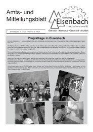 Projekttage in Eisenbach - Gemeinde Eisenbach
