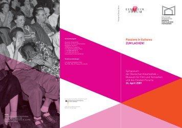 Detailliertes Programm - Einstein Forum