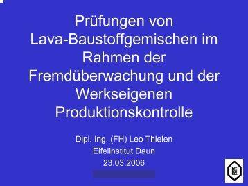 gemisch Durchgang in M.-% durch das Sieb (mm) - Eifelinstitut W ...