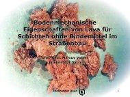 Bodenmechanische Eigenschaften von Lava - Eifelinstitut W. Lappe