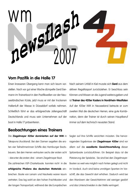 newsfl ash - Bootsservice Gerd Eiermann
