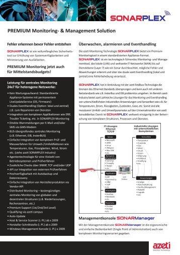 Datenblatt azeti SONARPLEX