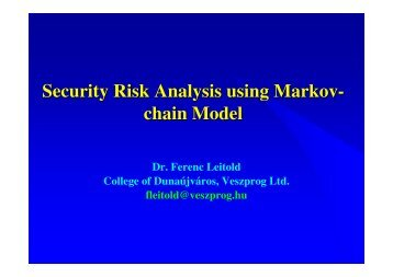 Security Risk Analysis using Markov- chain Model - Eicar