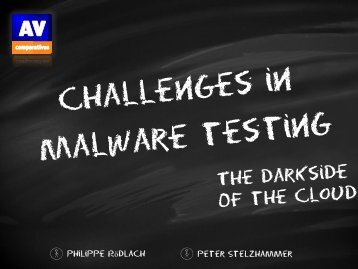 Challenges in Malware Testing - The darkside of the Cloud - Eicar