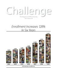 Enrollment Increases 128% In Six Years - Tiffin University