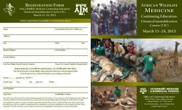 African Wildlife Medicine Continuing Education - College of ...