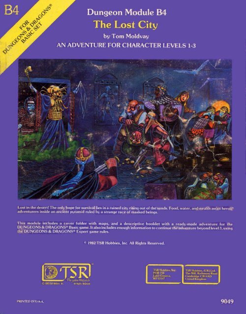 B4 - The Lost City pdf - Free