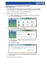 Installation Guide for Device Driver Windows Vista - EK-Team