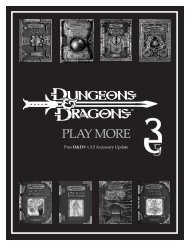 D&D Booklet - Dungeons & Dragons 3.X Resources & Links Page
