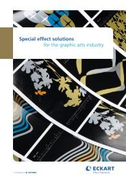 Special effect solutions for the graphic arts industry - Eckart