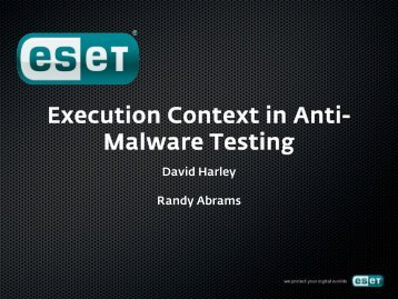 Execution Context in Anti-Malware Testing - Eicar