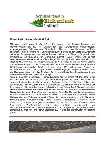 2004 Gauschießen - Schützenverein Eichenlaub Lohhof