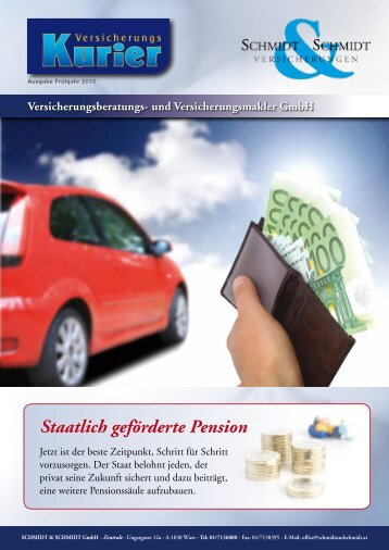 Staatlich geförderte Pension - Schmidt & Schmidt