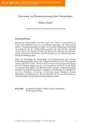 Bewertung von Parameterstreuung beim ... - Dynardo GmbH