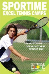 EXCEL TENNIS CAMPS - Sportime