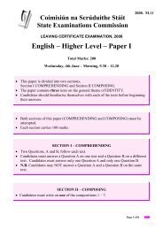 English – Higher Level – Paper I - Examinations.ie