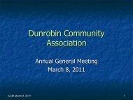 AGM Presentation - Dunrobin Community Association