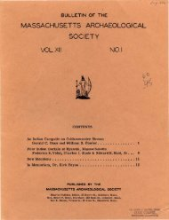 Bulletin of the Massachusetts Archaeological Society, Vol. 12, No. 1 ...