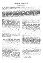 Myoclonus in Childhood - Opsoclonus-Myoclonus Syndrome ...