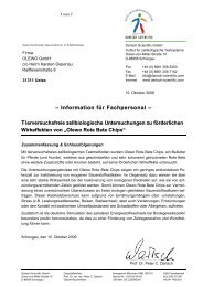 OLEWO ROTE BETE CHIPS Testbericht ... - OLEWO GmbH