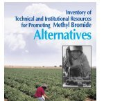 Inventory of Technical and Institutional Resources for Promoting ...