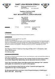 dart liga region zürich - DLRZ