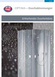 OPTIMA – Duschabtrennungen - Heinrich Schmidt GmbH & Co. KG
