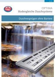 OPTIMA Bodengleiche Duschsysteme - Heinrich Schmidt GmbH ...