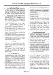 Allgemeine Einkaufsbedingungen SGAG 09 ... - SchmitterGroup AG