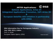 ARTES Applications: SatCom Applications, Artes 34 Integrated ...
