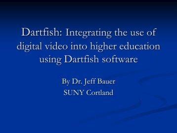 Dartfish: Integrating the use of digital video into higher education ...