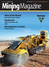 Mine of the Month Equipment Management in action - Mining Journal