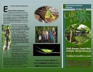 Visit Sierpe, Costa Rica - Sierpe Hotel Sierpe Tours