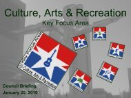 Culture, Arts & Recreation - City of Dallas