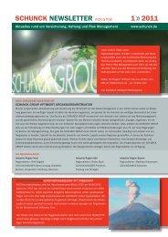 SCHUNCK NEWSLETTER 1 / 2011 Industrie - SCHUNCK GROUP