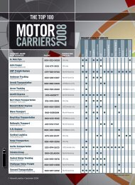 The Top 100 Motor Carriers 2008 - Inbound Logistics