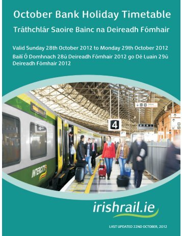 October Bank Holiday Timetable - Irish Rail