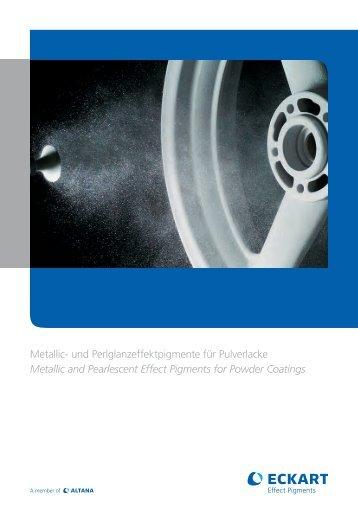 Metallic- und Perlglanzeffektpigmente für Pulverlacke ... - Eckart