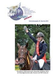 Herzlichen Glückwunsch der Deutschen Meisterin 2010 im ... - iWEST
