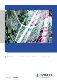 Metallic Farben für den Digitaldruck - ECKART