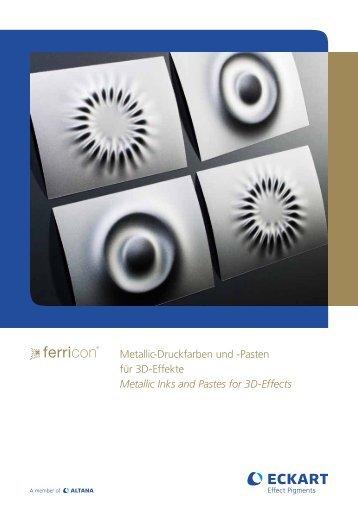 Metallic-Druckfarben und -Pasten für 3D-Effekte Metallic ... - Eckart