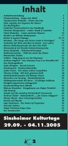 Kulturtage Sinsheim 29.09.05 - Ekxakt - Seite 2