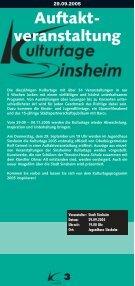 Kulturtage Sinsheim 29.09.05 - Ekxakt - Seite 3