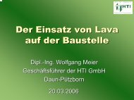 2. Baustellen 2.1 Erdbau - Eifelinstitut W. Lappe