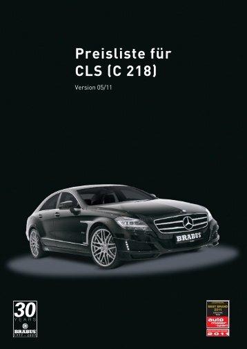 Preisliste für CLS (C 218)