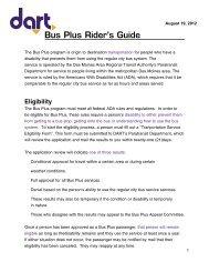 Bus Plus Rider's Guide - Des Moines Area Regional Transit Authority