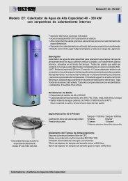 ECOTHERM Modelo EF: Calentador de Agua de Alta Capacidad 40 ...