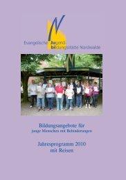 Bildungsangebote für Jahresprogramm 2010 mit Reisen