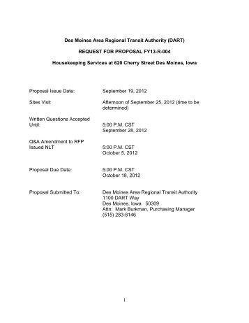 1 Des Moines Area Regional Transit Authority (DART) REQUEST ...